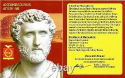 Empereur Romain Antonin Pie Pie Argent Denarius Coin Ngc Certifié Vf Avec Histoire