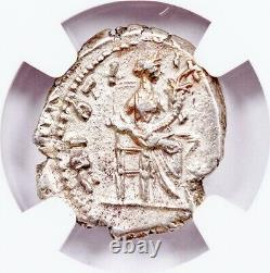 Empereur Romain Antoninus Pius Argent Denarius Pièce Ngc Certifié Avec Histoire