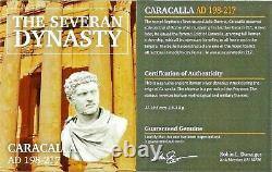 Empereur Romain Argent Denarius De Caracalla Coin Ngc Certifié Au & Story