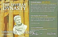 Empereur Romain Argent Denarius De Caracalla Coin Ngc Certifié Vf & Story