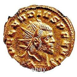 Empereur Romain Claudius II Gothicus Coin Ngc Certifié Ua, Avec Histoire, Certificat