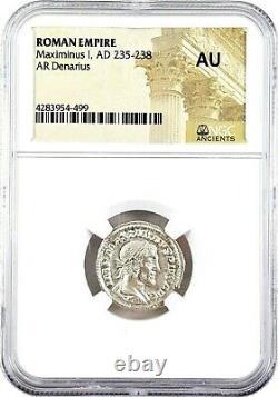 Empereur Romain Maximinus I Argent Denarius Coin Ngc Certifié Ua Avec Histoire