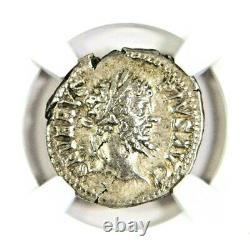 Empereur Septimius Severus, Denarius Roman Silver Coin Ngc Certifié Vf & Story