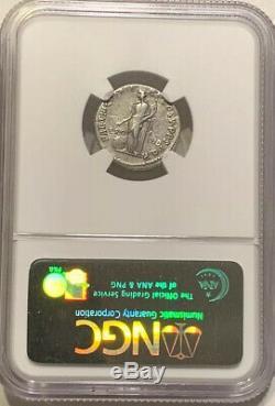 Empereur Tarjan Empire Romain Argent Denarius Annonce 98-117 Ngc Certifié Ancienne Pièce De Monnaie