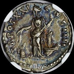 Empire Romain Antonius Pie Ad 138 Ar Denarius Nc Ch Xf Uber Tonique Pièce Antique