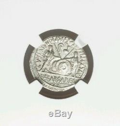 Empire Romain Auguste Denier Ngc Vf Antique Silver Coin