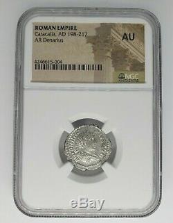 Empire Romain Caracalla Ad 198-217 Coin Stache De Ngc Au Rév Tye # 5004