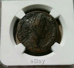 Empire Romain Commodus Avec Liberalitas Sestertius Ngc Vf 5/3 Ancienne Pièce De Monnaie
