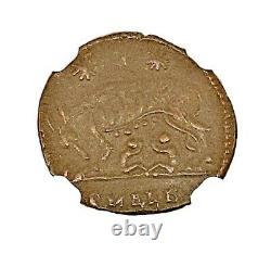 Empire Romain Constantine, Bi Nummus Roma / Shewolf & Twins Coin Ngc Certified Au