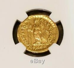 Empire Romain D'orient Léon I Or Solidus Ngc Vf 5/2 Ancienne Pièce De Monnaie