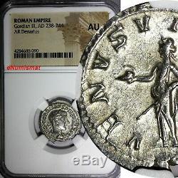 Empire Romain Gordien III 238-244 Ad Ar Denier Ngc Au Coin De Nice