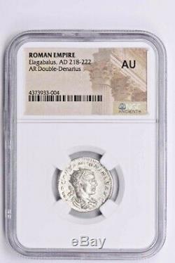 Empire Romain, Héliogabale Ar Double-denier Ad 218-222 Ngc Au Witter Coin