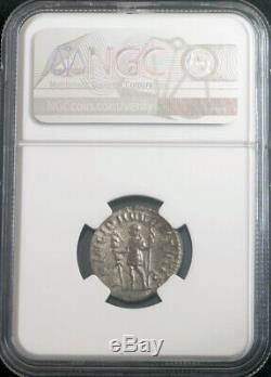 Empire Romain, Hostilien (250-251 Après Jc). Denier D'argent Coin. Rare! Ngc Au 4/4