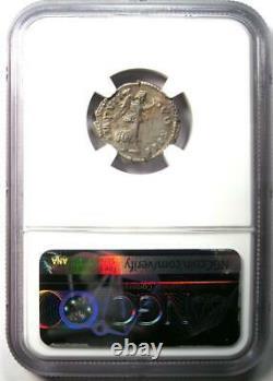 Empire Romain Marcus Aurèle Ar Denarius Coin 161-180 Ad Certifié Ngc Ch Vf