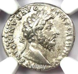 Empire Romain Marcus Aurèle Ar Denarius Coin 161-180 Ad Certifié Ngc Xf (ef)