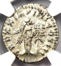 Empire Romain Marcus Aurelius Ar Denarius Coin 161-180 Ad Certifié Ngc Ch Xf
