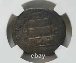 Empire Romain Marcus Aurelius Sestertius Ngc Choice Fine Ancient Coin