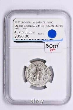 Empire Romain, Otacilia Severa Ar Double-denarius Ad 244-249 Ngc Ms Witter Coin
