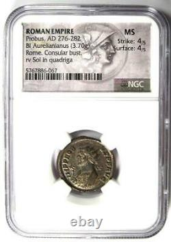 Empire Romain Probus Bi Aurelianus Coin (276-282 Ad) Certifié Ngc Ms (unc)