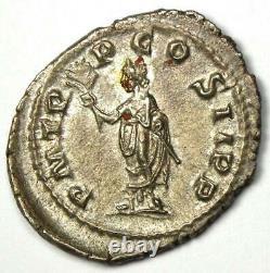Empire Romain Pupienus Ar Denarius Coin 238 Ad Certifié Ngc Au (certificat)