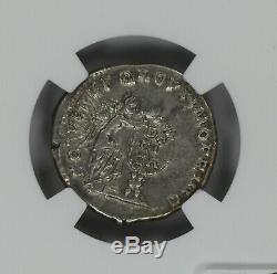 Empire Romain Trajan Ad 98-117 Denier Ngc Ancienne Pièce De Monnaie Choix Xf (38012)