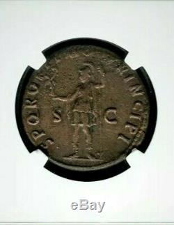 Empire Romain Trajan Ae Ngc Vf Fin De Style Ancienne Pièce De Monnaie