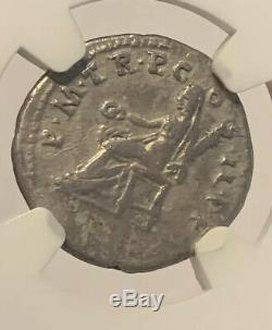 Empire Romain Trajan Denier D'argent Ad 98 117 Ngc Certifié Ancienne Pièce De Monnaie