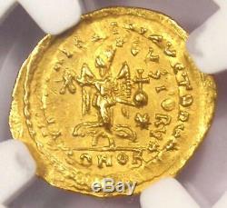 Empire Romain Zeno Av 474 Tremissis Monnaie Ad Certifié Ngc Choix De L'ua