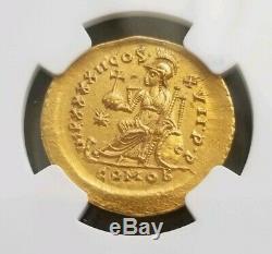 Est Empire Romain Théodose II Ngc Ms 5/3 Or Ancienne Pièce De Monnaie