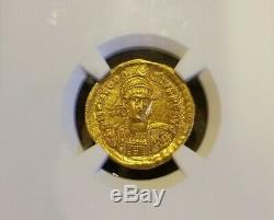 Est-empire Romain Germanique Theodosisus Or Solidus Ngc Ms 5/4 Ancienne Pièce De Monnaie