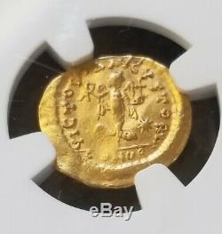 Est-empire Romain Germanique Zeno Tremissis Ngc Xf Ancienne Pièce D'or