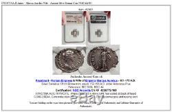 Faustina II Junior Marc-aurèle Femme Antique Romaine Argent Monnaie Ngc I62481