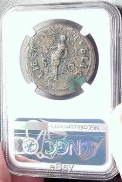 Galba 68ad Rome Sestertius Rare Authentique Ancienne Pièce De Monnaie Romaine Libertas Ngc I68740