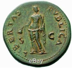 Galba 68ad Sestertius Ngc Certifié Xf Rare Authentique Pièce De Monnaie Romaine Antique I60510