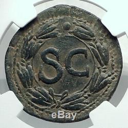 Galba 68ad Très Rare Authentique Ancienne Pièce Authentique Romaine Antioche Sc Ngc I78892