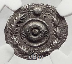 Galba Supporter Vindex Espagne Guerre Civile Romaine Vs Nero 68ad Silver Coin Ngc I61204