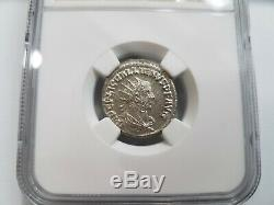 Gallien Empire Romain Ngc Ms Ad 253-268 Bi Double Denier Ancienne Pièce De Monnaie