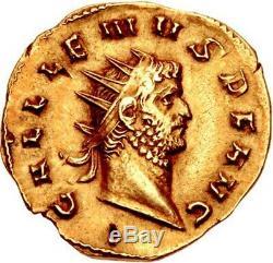 Gallienus Authentique Ancien 262ad Rome Aureus Monnaie Romaine Or Rare Ngc