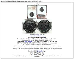 Germanicus Père De Caligula Rare Restitution Monnaie Romaine De Titus Ngc Au I68296