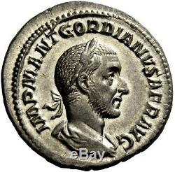 Gordian Je Africanus 238ad Tres Rare Argent Antique Roman Denarius Monnaie Ngc Ch Au