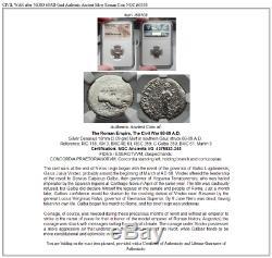 Guerre Civile Après Nero 68ad Gaule Romaine Authentique Argent Ancienne Pièce De Monnaie Ngc I60108