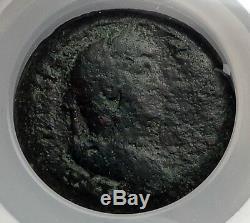 Hadrian 133ad Phare D'alexandrie Merveille Du Monde Monnaie Romaine Ngc I59988