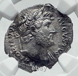 Hadrian Authentic Ancient 128ad Rome Argent Pièce Romaine Pudicitia Ngc I81133