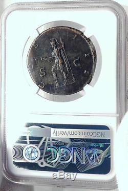 Hadrian Authentique Ancient Rome 124ad Sestertius Roman Coin Virtus Ngc I82363