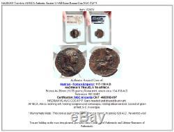 Hadrian Est En Afrique Authentique Ancienne 134ad Rome Romaine Monnaie Ngc I72874