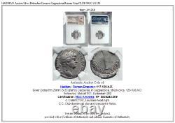 Hadrien Ancien Argent Didrachme Caearea Cappadocia Roman Coin Club Ngc I81358
