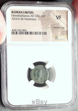 Hanniballianus 335ad Constantin Le Grand Roman Temps Ancienne Pièce De Monnaie Ngc I68611
