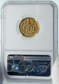 Honorius Authentique Ancient 395ad Or Solidus Roman Coin De Ravenne Ngc I86550