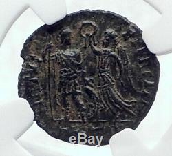 Honorius W Victoire Authentique Antique Antioche Originale Romaine Pièce De Monnaie Ngc I81671
