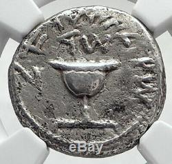 Juif Ancienne Guerre V Romans Argent Année 4 Shekel De Jerusalem Coin Ngc I80330